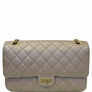 CHANEL Reissue Mademoiselle Lock Shoulder Bag Beig